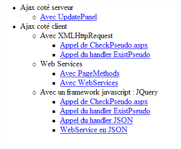 Methodes De Communications Ajax Avec Asp Net